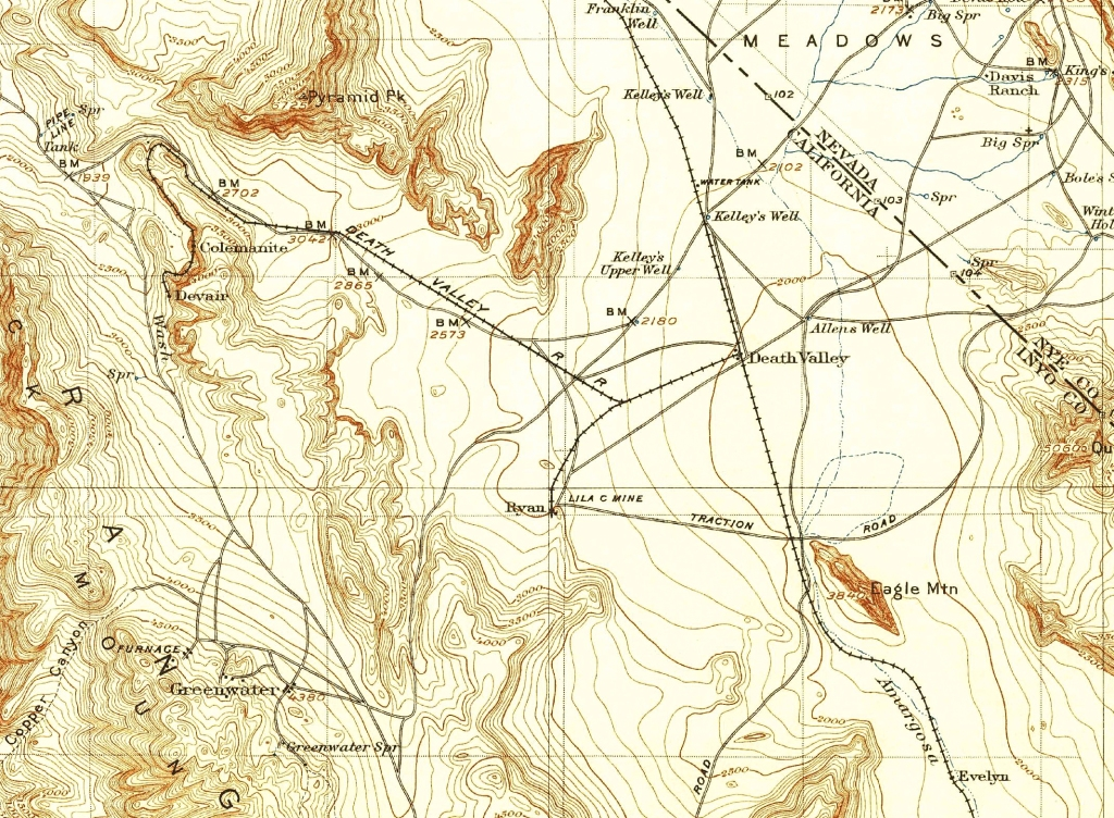 1930 Death Valley Railroad to Colmanite and Devair