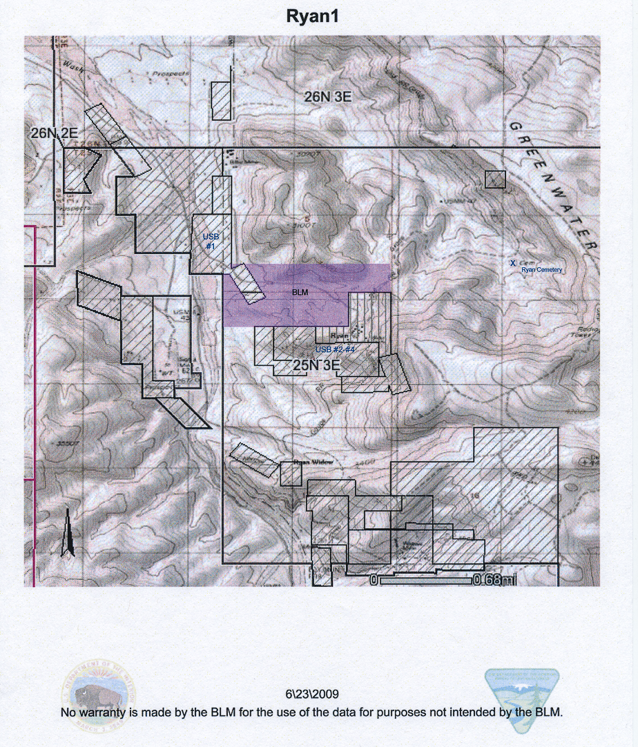 Golas BLM map 090809