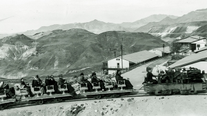 Sightseeing train leaving Ryan for the mines. Courtesy National Park Service, Death Valley National Park