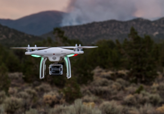 DJI Phantom UAS at the Bison Fire July 4, 2013