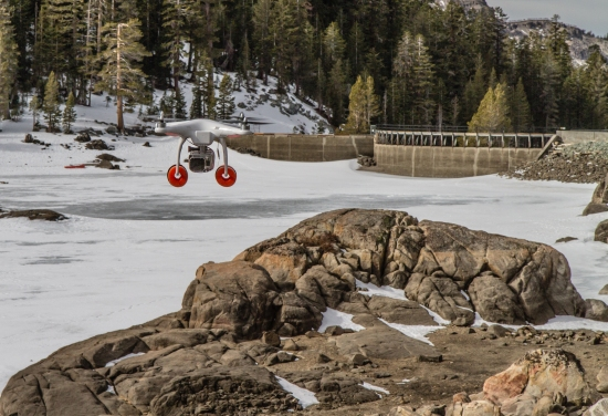 DJI Phantom UAS at Caples Lake, California Jan. 27, 2014